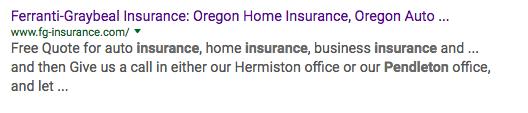 insurance keyword