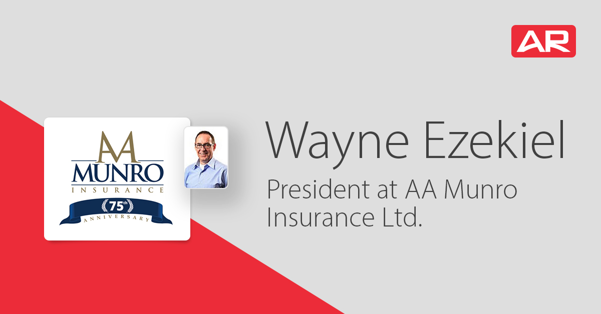 Wayne Ezekiel, President of AA Munro Insurance, Ltd. on the Connected Insurance Podcast presented by Agency Revolution