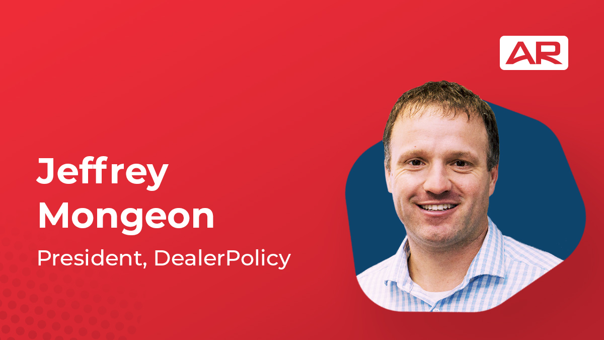 Jeffrey Mongeon, President, DealerPolicy on the Connected Insurance Podcast presented by Agency Revolution